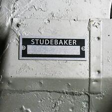 Studebaker Custom ID Plate Vehicle Idtification Serial # Data Tag commander 304