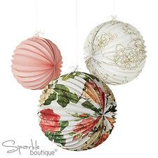 Linternas Floral Decoración Para Colgar En Papel - - Vintage Boda/Fiesta-Blossom & Cuero Calado