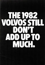 Volvo 343 244 245 Competitor Price Comparisons 1982 UK Market Foldout Brochure