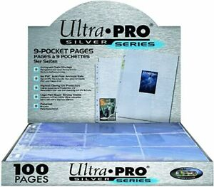 Ultra Pro Silver Pages 9 Pocket A4 Pokemon MTG Trading Card Sleeve 10-100