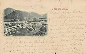 ISCHL SALZBURG AUSTRIA~PANORAMA VIEW~1898 ELEVATED VIEW PHOTO POSTCARD