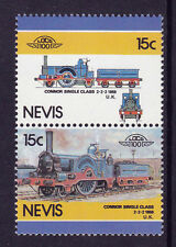 NEVIS LOCO 100 CONNOR SINGLE CLASS LOCOMOTIVE UK STAMPS MNH