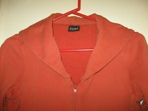 Women's EILEEN FISHER Full Zip Cotton Sweat Jacket; Lg Collar; Pockets SZ Petite
