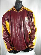 FLORIDA STATE Seminoles Leather Jacket Garnet and Gold Men's Size XXXL Bomber