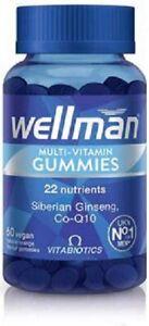 Vitabiotics Wellman Multi-Vitamin Gummies 60 Vegan Orange Gummies