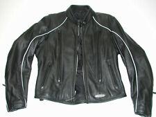 HARLEY DAVIDSON Womens FXRG OEM 98520 Black Leather Motorcycle Biker Jacket SZ:S
