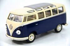 "7"" Kinsmart 1962 VW Volkswagen Bus Diecast Model Toy Car Van 1:24 Blue"
