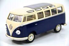 "7"" Kinsmart 1962 Vw Volkswagen Bus Diecast Model Toy Car Van 1:24 Blue"