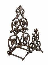 Hose Holder Cast Iron Big Flower Decorative Hose Reel Hanger Antique Rust SREDA