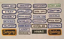 Patch Lot of 25 HOSPITAL Radiology Surgery Ambulance Embroidered Uniform PATCHES