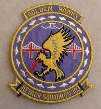 "VIETNAM NAVY SQUADRON ""ATTACK SQUADRON 303 GOLDEN HAWKS"" EMB ON TWILL CE GZE BK"