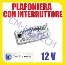 PLAFONIERA LUCE DI CORTESIA 12V X COFANO BAULE BAGAGLIAIO INTERNI AUTO SUV JEEP