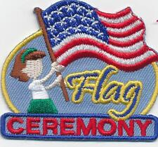Girl FLAG CEREMONY American Fun Patches Crests Badges SCOUT GUIDE Junior Day