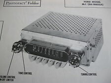 1948, 1949 FORD M-1, 8A-18805-A RADIO PHOTOFACT