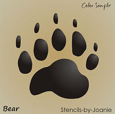 """Stencil 5"""" Bear Paw Print Animal Track Hunting Cabin Wilderness Rustic Signs"""