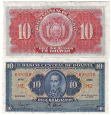 BOLIVIA 10 BOLIVIANOS 1928 PICK 130 UNC