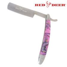 NEW Purple & Black Handle Fixed Blade Folding Shaving Straight Razor