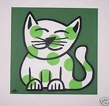 !! ORIGINAL   DESIGNS  POP ART  painting  CAT 40X40CM