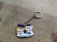 wedding favours Keyring Handmade Personalised Made To Order Party Gift ideas