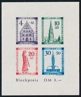 FZ BADEN, MiNr. Block 1 B V, postfrisch, Fotobefund Straub, Mi. 300,-