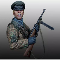 1/12 Untersturmfiihrer, Resin Bust, World War II, Unassembled and unpainted kit