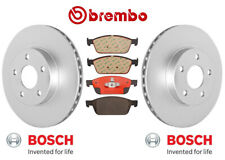 Pair Set of 2 Front OEM Vented Disc Brake Rotors & Brake Pad Set for Ford Escape