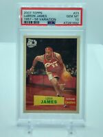 2007 Topps #23 LEBRON JAMES 1957-58 Variation PSA 10 Gem Mint LAKERS SP Low Pop