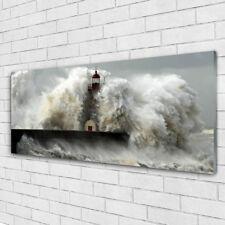 Wandbilder Glasbilder Druck auf Glas 125x50 Leuchtturm Landschaft