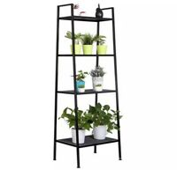 Widen 4 Tiers Bookshelf Multifunctional Shelf Stable Sturdy and Durable Black