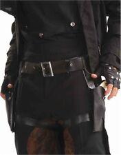Steampunk Cowboy Costume Black Dual Double Holster Belt