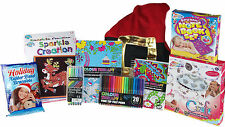 Older Girls Christmas Filled Sack Complete 8 Piece Art And Jewellery Craft Kits