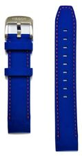 Original Tissot QUICKSTER 19mm Blue Rubber Watch Band Strap For T095417
