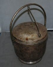 Ice Bucket Vintage Original Silver Ice Bucket Very Old Bar Ice Bucket