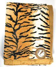 Birchwood Animal Print Throw Blanket, Tiger