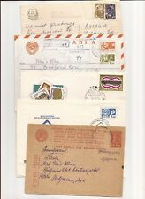 RUSSIA- 8 covers/cards quite mixed, including ones to England