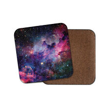 Pink Purple Nebula Drinks Coaster - Solar System Star Sci-Fi Fun Cool Gift #8545