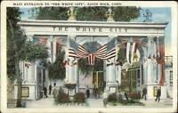 Savin Rock CT White City Main Entrance c1920 Postcard