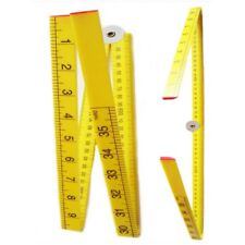 1 Metre / 3ft Folding Ruler Dual Metric Imperial Inches Centimeters cm