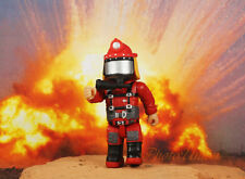 Mighty World Emergrency Fire Brigade Fireman Fighter Rescue Cake Topper Figure