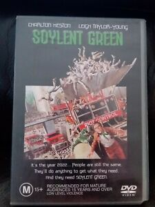 SOYLENT GREEN 1973 DVD Charlton Heston Genuine Region 4 Rare OOP HTF SCI FI