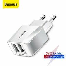 Baseus Dual USB Schnell Ladegerät Handy Netzteil Adapter für Samsung Huawei HTC