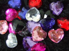 Acrylic Multi Heart Jewellery Making Beads
