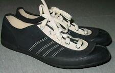 Mens Viking Lace Up Shoes Size 46 Black Canvas Rubber Cleats 11.5 Norway Unworn