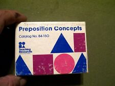 Teaching Resources PREPOSITION CONCEPTS Picture Cards (70 laminated cards)