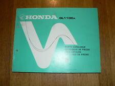 HONDA GL1100A GOLD WING PARTS CATALOGUE MOTORCYCLE TEILE-KATALOG 1979 1100 A