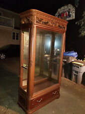 Large lighted Curio Cabinets.  Quanity 2.  Jessica McClintock, The Romance Colle