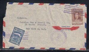 HONDURAS Commercial Cover Tegucigalpa to New York City 21-11-1952 Cancel