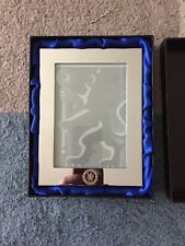CHELSEA FOOTBALL CLUB POLISHED CHROME PHOTO FRAME EMBOSSED WITH CHELSEA LOGO NEW