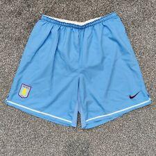 Aston Villa Nike Player Issue Away Shorts 2007-08 L Large Blue Football