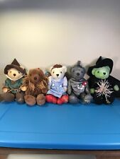 Wizard Of Oz Cuddle Factory Bears SET of 6 LION WITCH DOROTHY TIN MAN SCARECROW